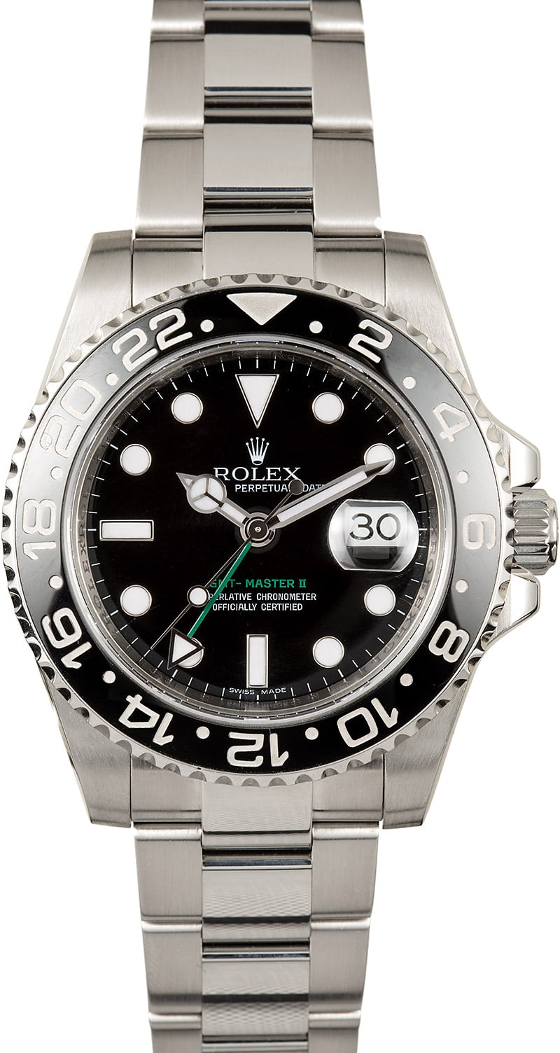 Buy used rolex gmt master ii 116710ln bob 39 s watches sku 123751 x for Rolex gmt master