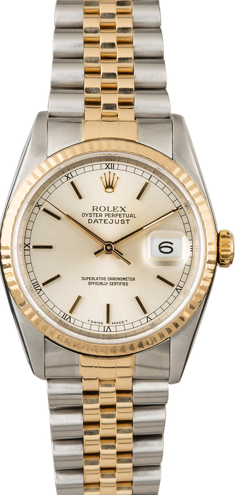 Certified Pre Owned >> Used Rolex Datejust 16233 Two Tone Jubilee Band
