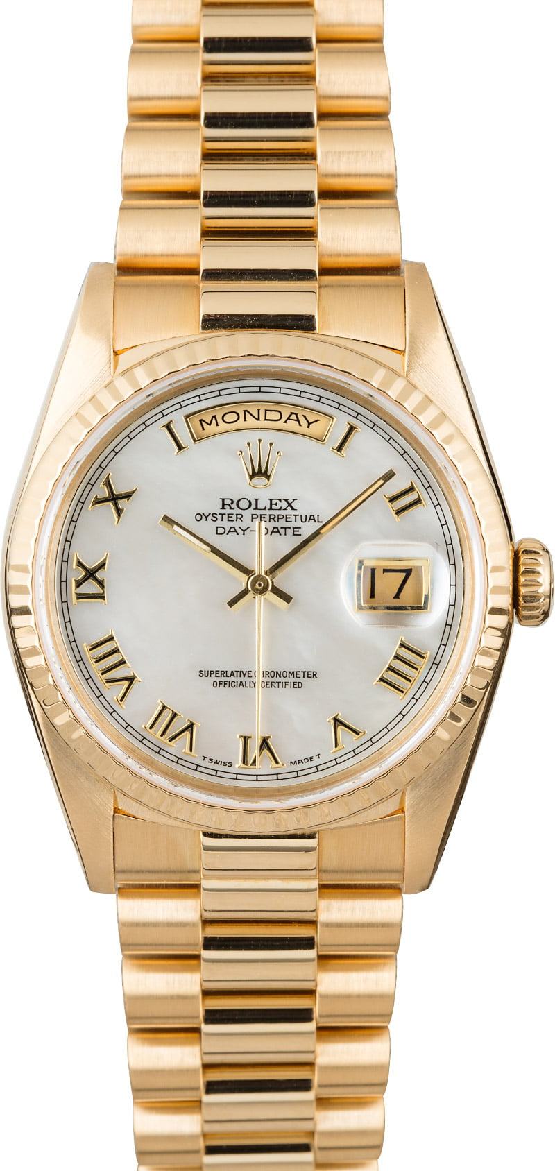 Watch Mom In Bedroom Camera: Used Rolex President 18238 Mother Of Pearl Dial