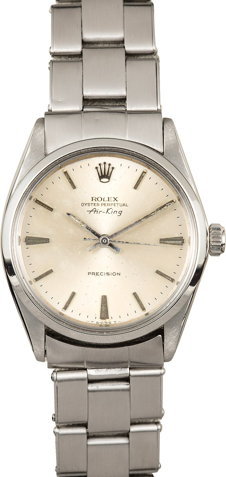 Vintage rolex air king 5500 silver dial for Rolex air king