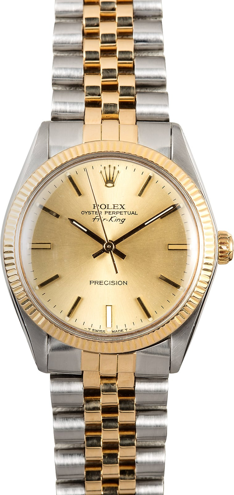 Vintage rolex air king 5501 two tone for Rolex air king