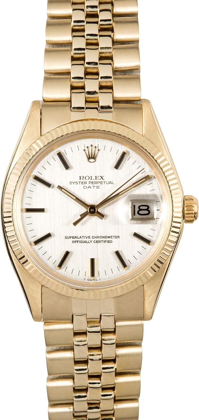 Used Rolex Daytona >> Rolex Date 1503 Yellow Gold
