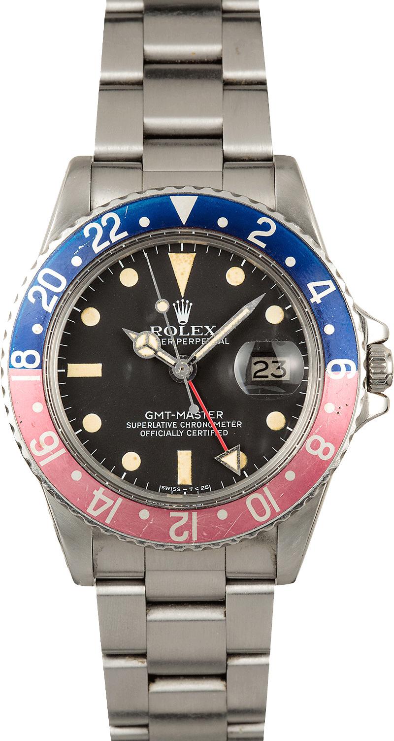 Rolex Gmt 2 >> Vintage Rolex GMT-Master 1675 Faded Pepsi