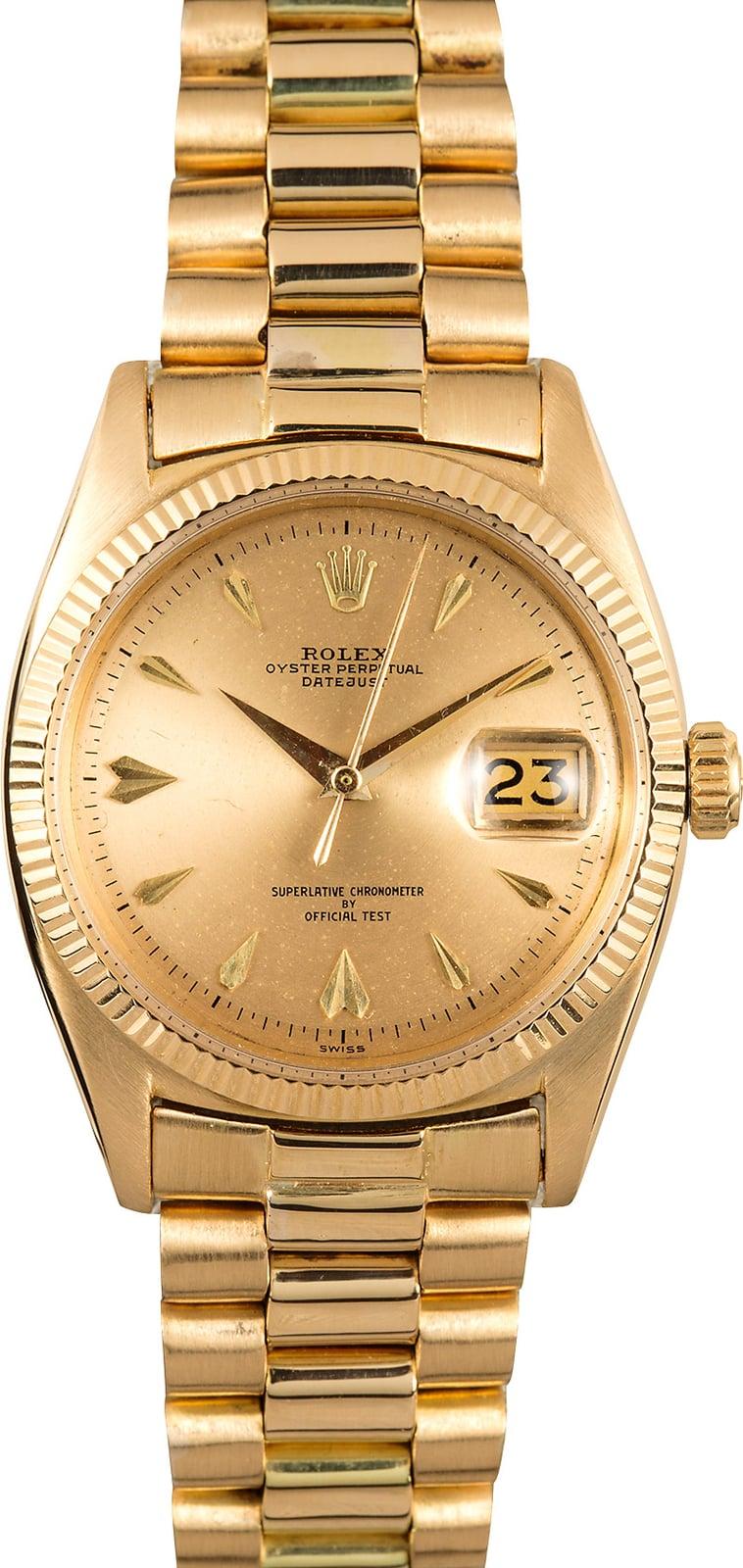 Vintage Rolex Gold Datejust 6605