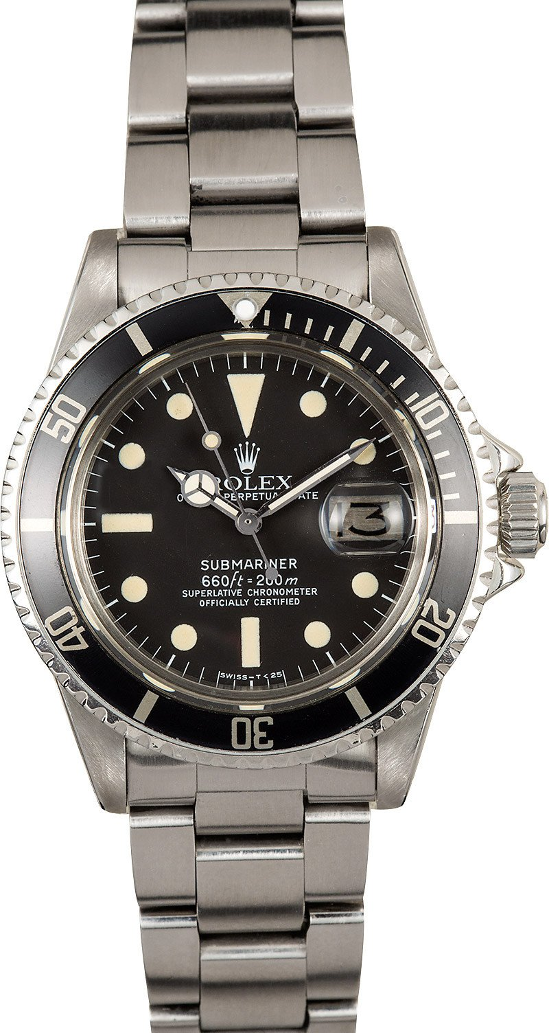 Value My Trade In >> Rolex Reference 1680 Vintage Submariner at Bob's Watches