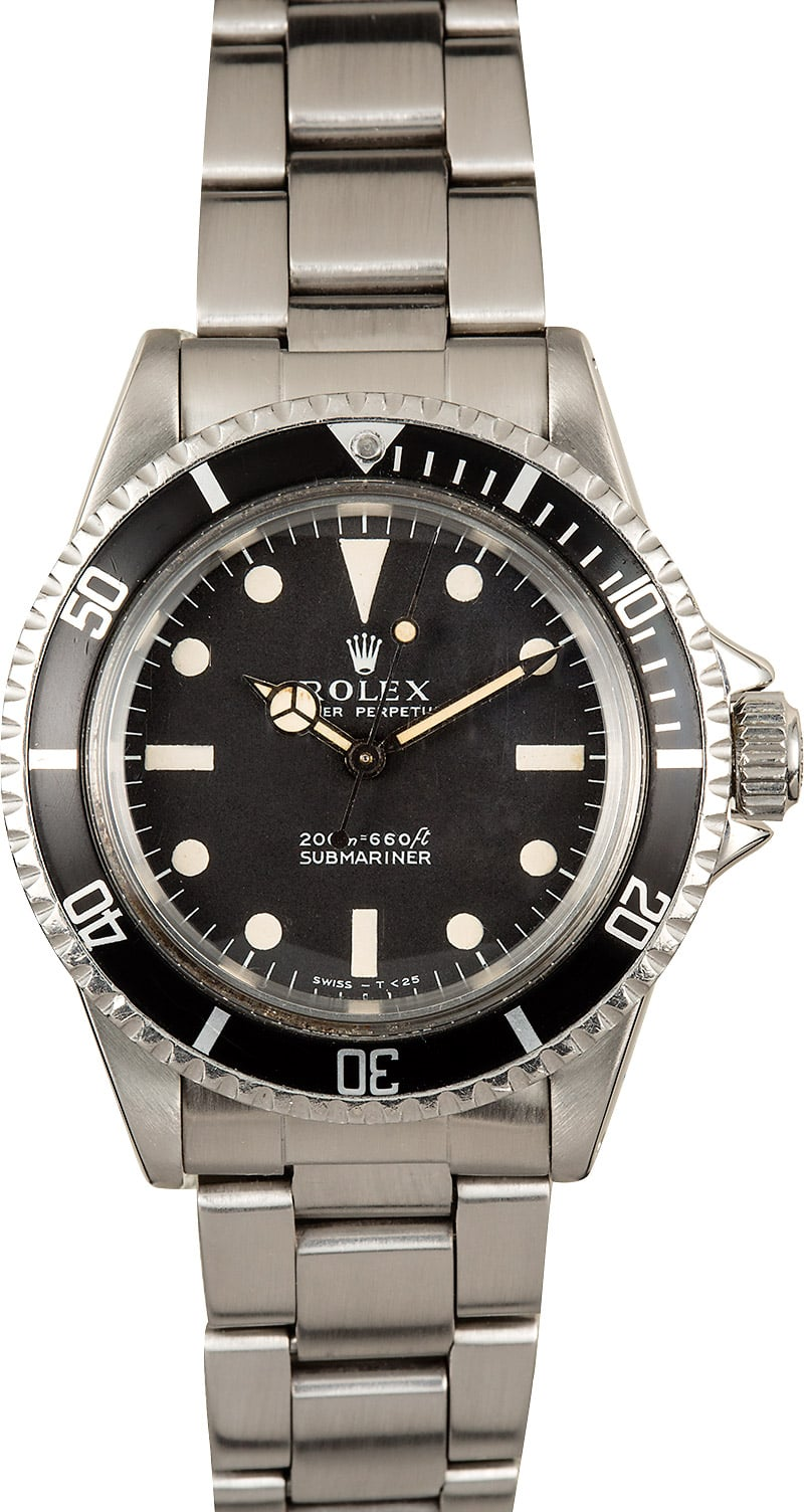 Vintage Rolex Submariner 5513 Matte Black
