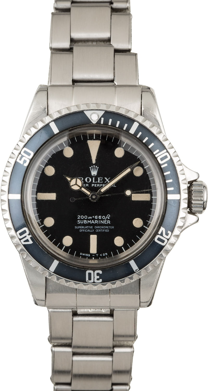 Vintage 1967 Rolex Submariner 5512 Four Line Dial