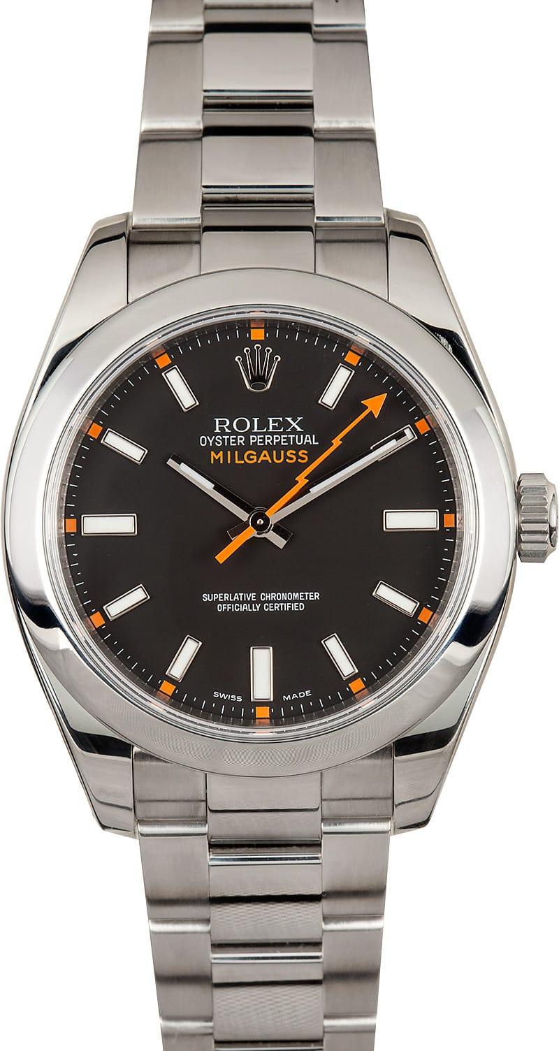 Rolex 116400 milgauss black dial for Rolex milgauss