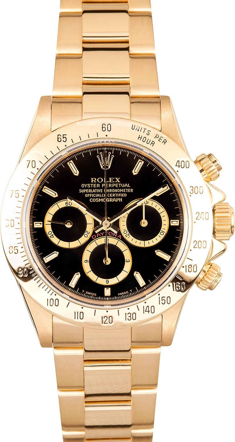 Used Rolex Submariner >> Rolex Daytona Gold 16528 - Save At Bob's Watches