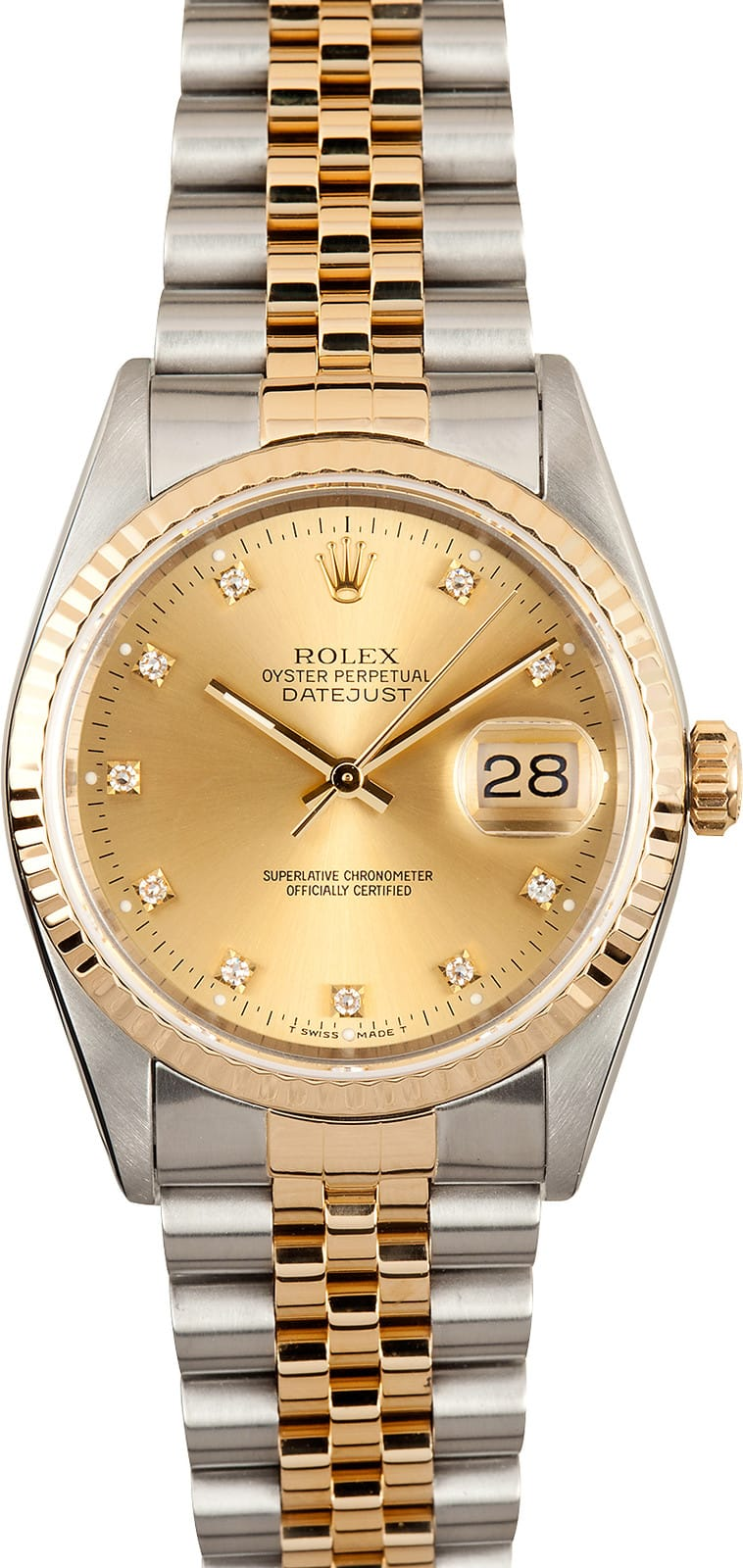 Rolex Datejust 16233 Champagne Diamond Dial