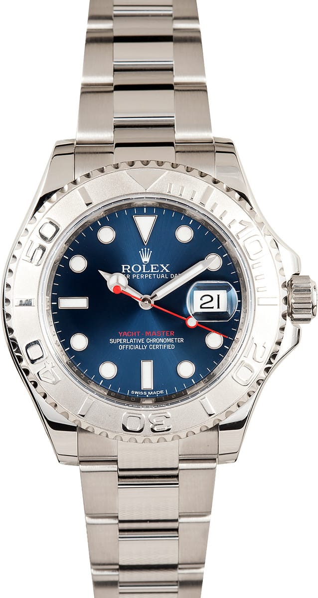 Rolex Yacthmaster 116622 Blue Dial Bob S Watches