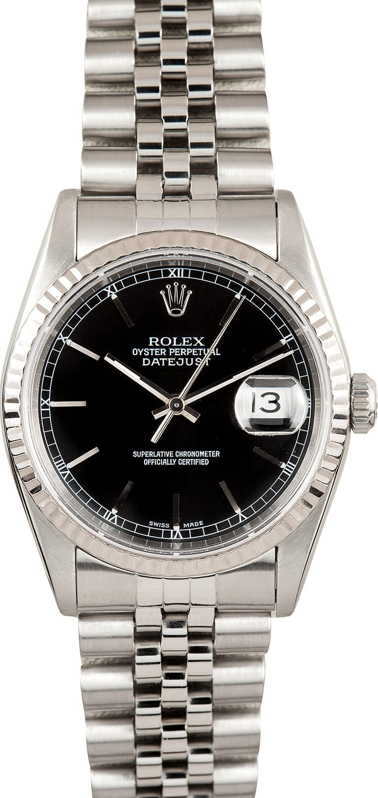 Certified Pre Owned >> Rolex Oyster Perpetual Datejust Mens Steel Ref 16234