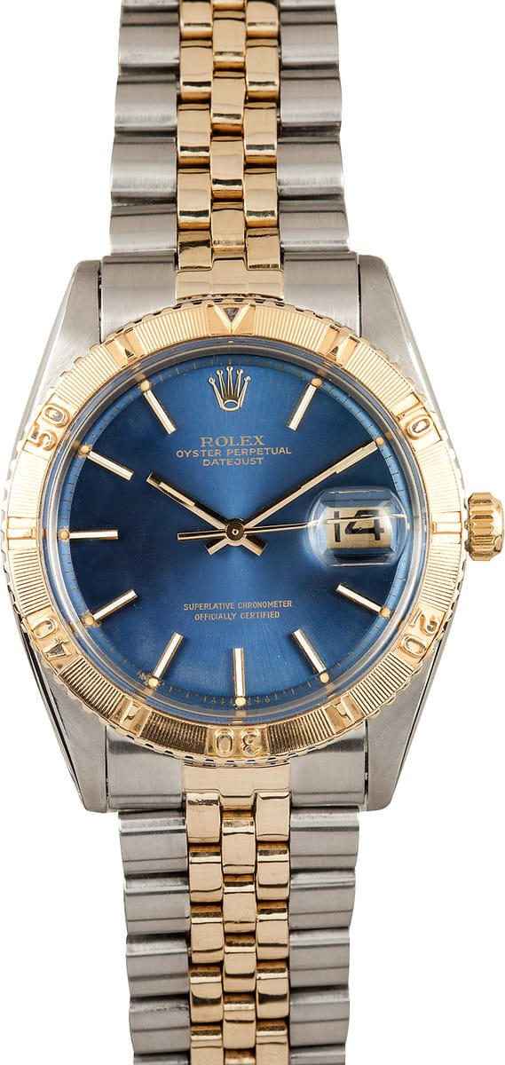 Certified Pre Owned >> Rolex Datejust Thunderbird 1625 - Buy it Bob's Watches and ...