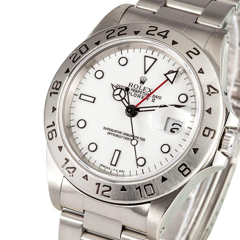 used mens rolex explorer ii mens stainless steel watch