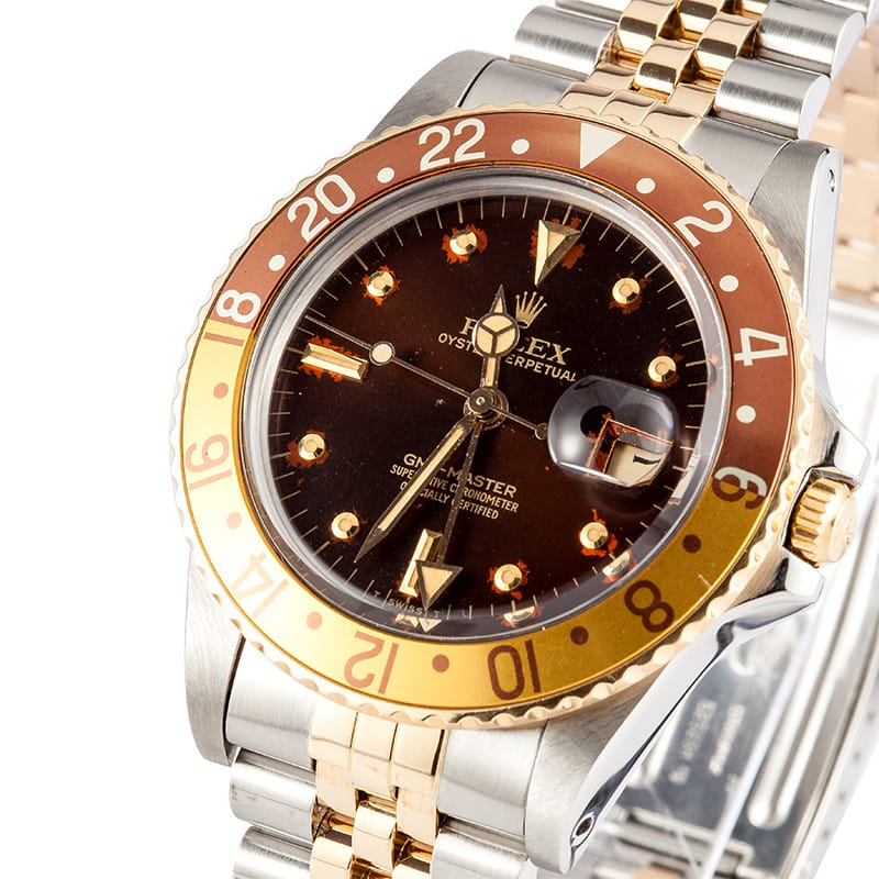 A GMT-Master 16753 with a nipple dial. A highly collectable watch.