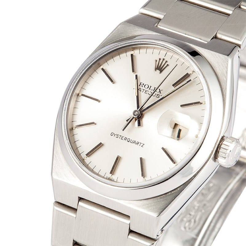 Men S Rolex Datejust Silver Dial Oyster Quartz 17000 Low Prices