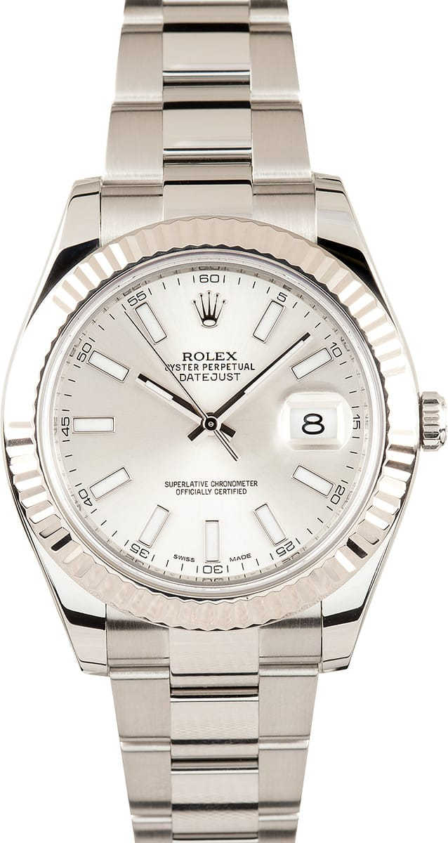 2d57f2132b4 Here are similar in stock watches you might like. Pre-Owned Rolex Datejust  II Ref 116334 White Dial 41MM$7,695