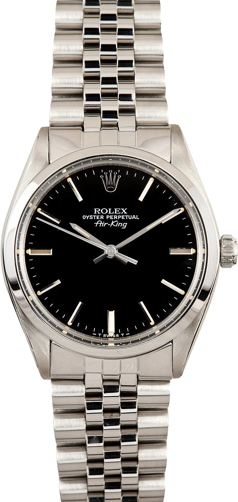 Certified Pre Owned >> Vintage Rolex Men's Air-King 5500