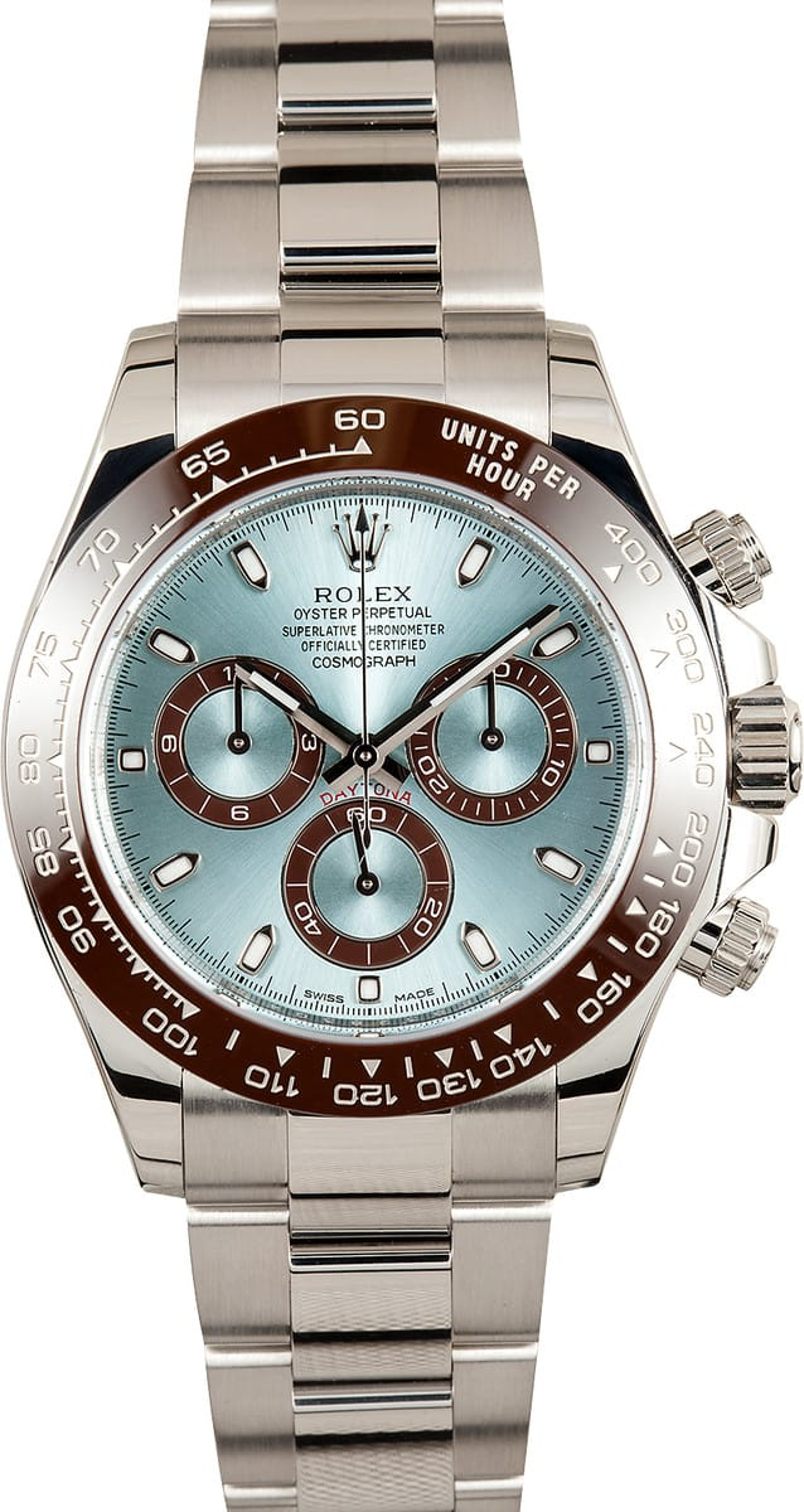 5e747381db7 Rolex Anniversary Daytona Platinum Cosmograph 116506 at Bob's Watches
