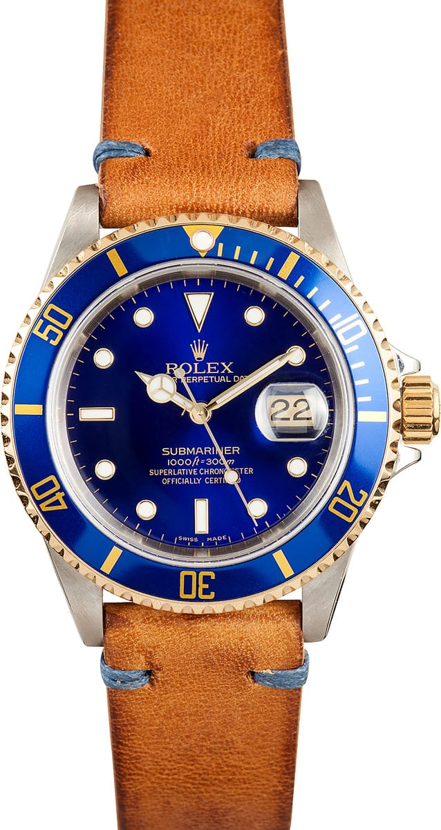 Used Rolex Submariner >> Rolex Submariner Steel & Gold Two Tone With Blue Face Dial ...