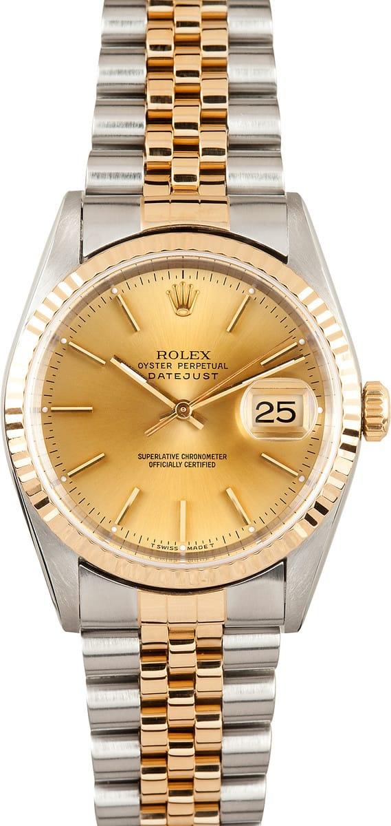 Купить Rolex Datejust 16233 оригинал б/у - часовой ломбард