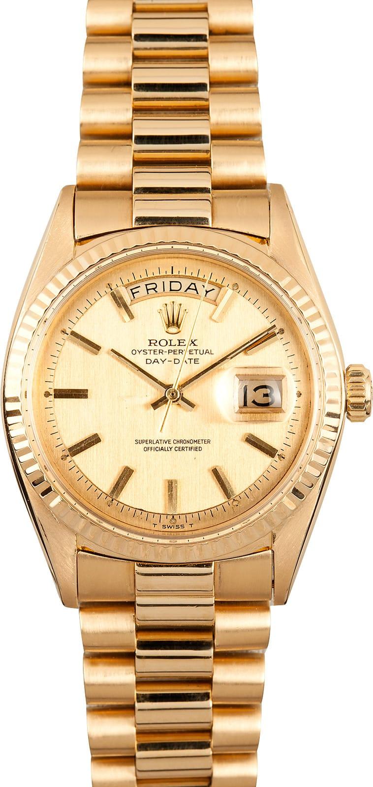 Used Rolex Submariner >> Mens Vintage Rolex Day Date 1803 - 100% Authentic Rolex