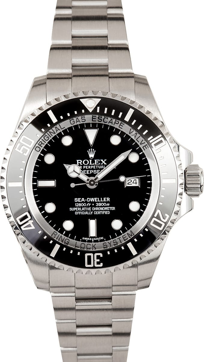 rolex sea dweller Reduced mens rolex oyster perpetual sea-dweller mens model 116600, black dial, black cerachrom bezel, helium escape valve, 40mm stainless steel case & bracelet.
