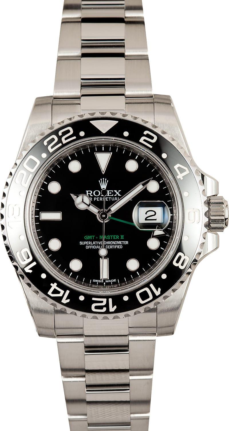Rolex gmt master ii black 116710 gmt hand for Rolex gmt master