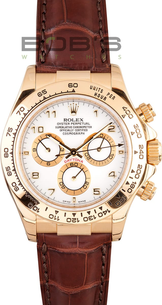 2094fe1f09f Rolex Daytona Leather Band at Bob s Watches - Buy at  15995.00