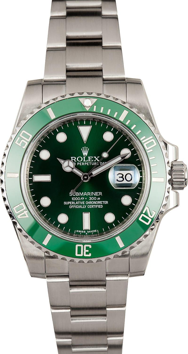 Rolex Quot Hulk Quot Submariner Submariner Green 116610v
