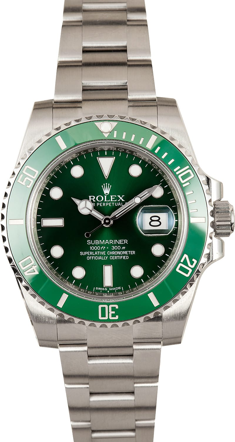 Rolex Hulk Submariner 116610V - Submariner Green 116610V Anniversary ... c2b53ebb8a2a