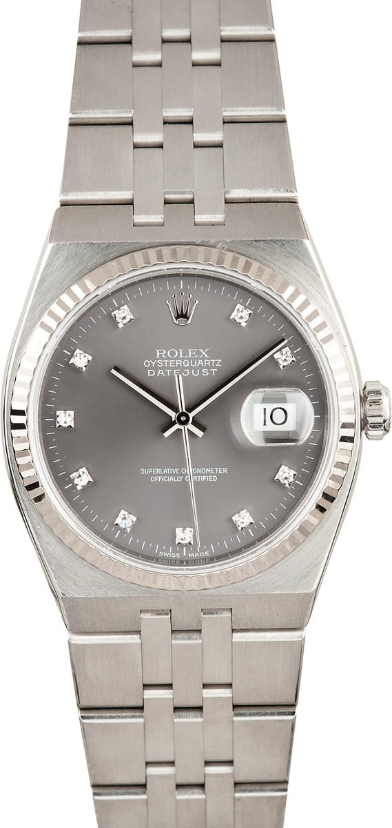 Used Rolex Daytona >> Rolex Datejust Oysterquartz Diamond Dial 17014 Save up to 50%