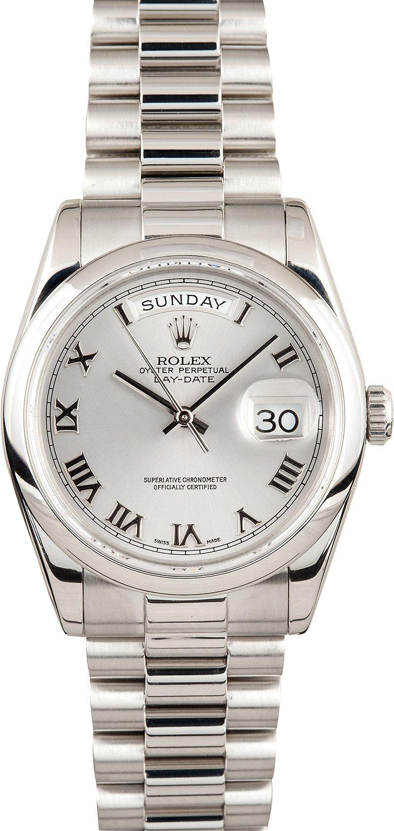 Used Rolex Daytona >> Rolex President Ref 118206 Save $1,000 - Bob's Watches