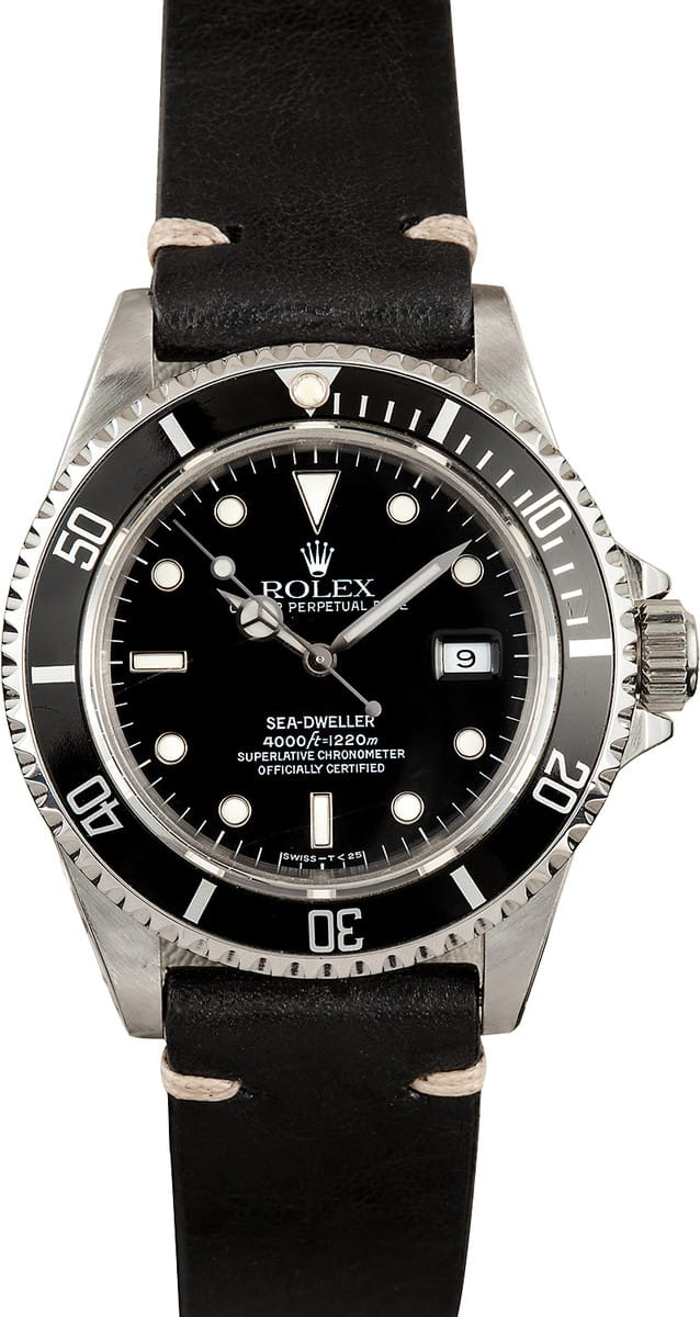 Certified Pre Owned >> Rolex Seadweller Black 16600 2 - Dweller 16600