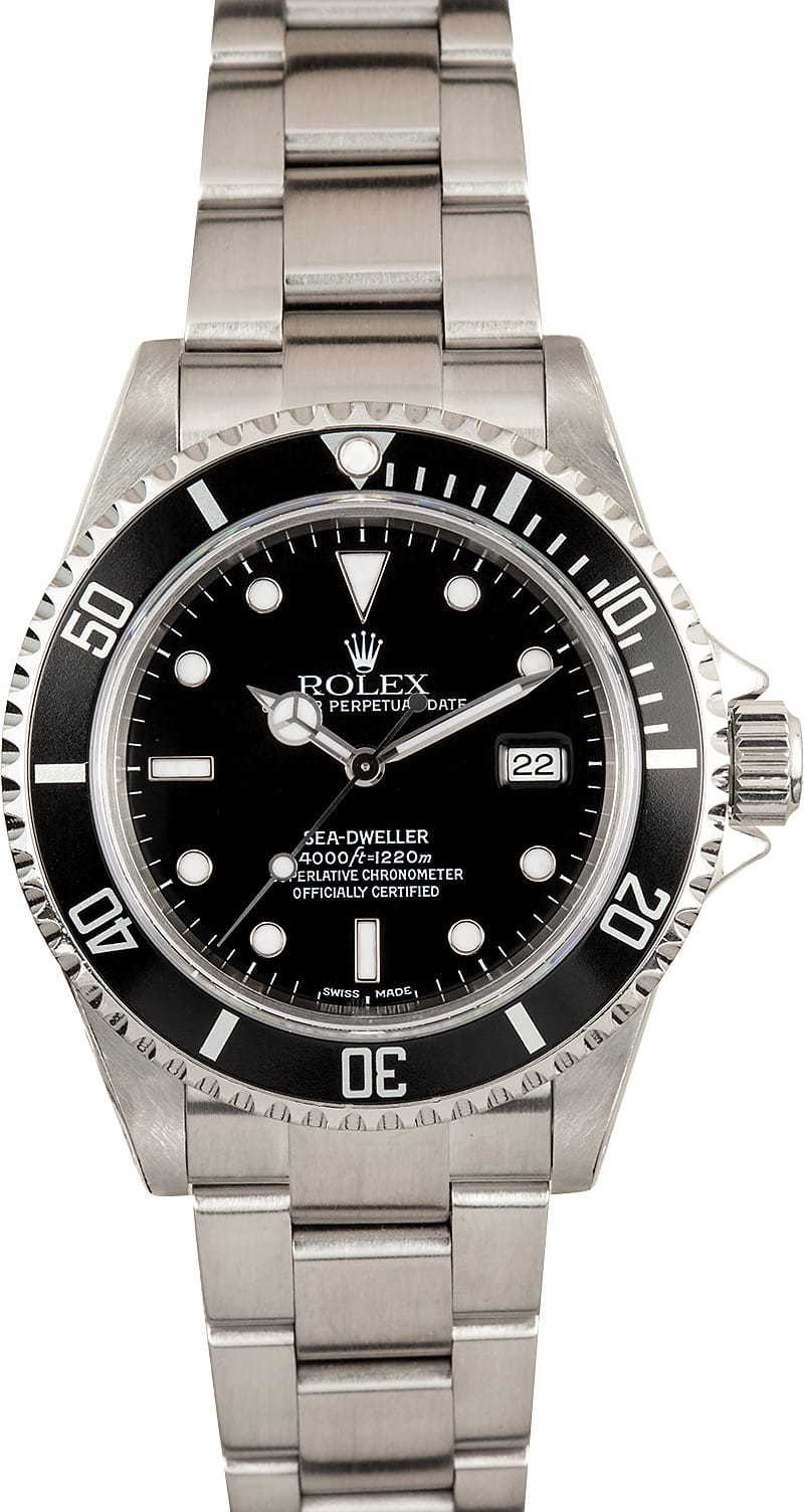 Used rolex sea dweller 16600 stainless steel for Rolex sea wweller