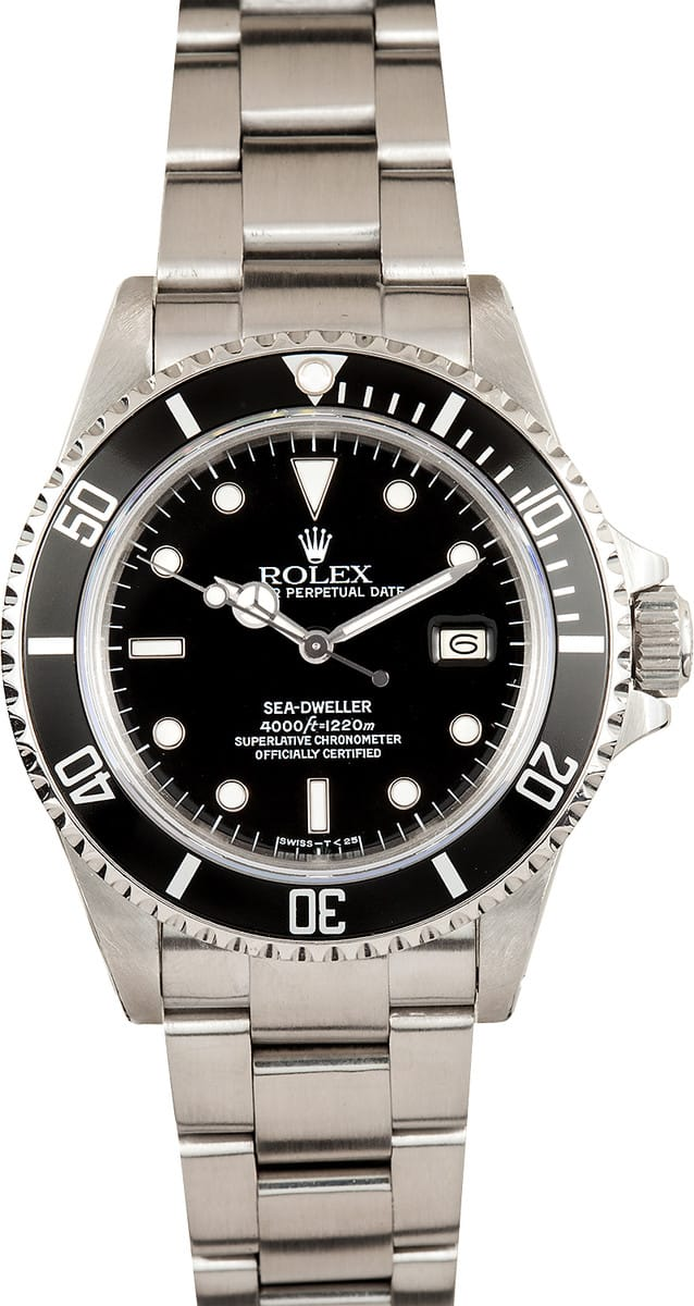 Used Rolex Submariner >> Rolex Sea-Dweller 16660 Black Dial - Ships Free, no Sales Tax