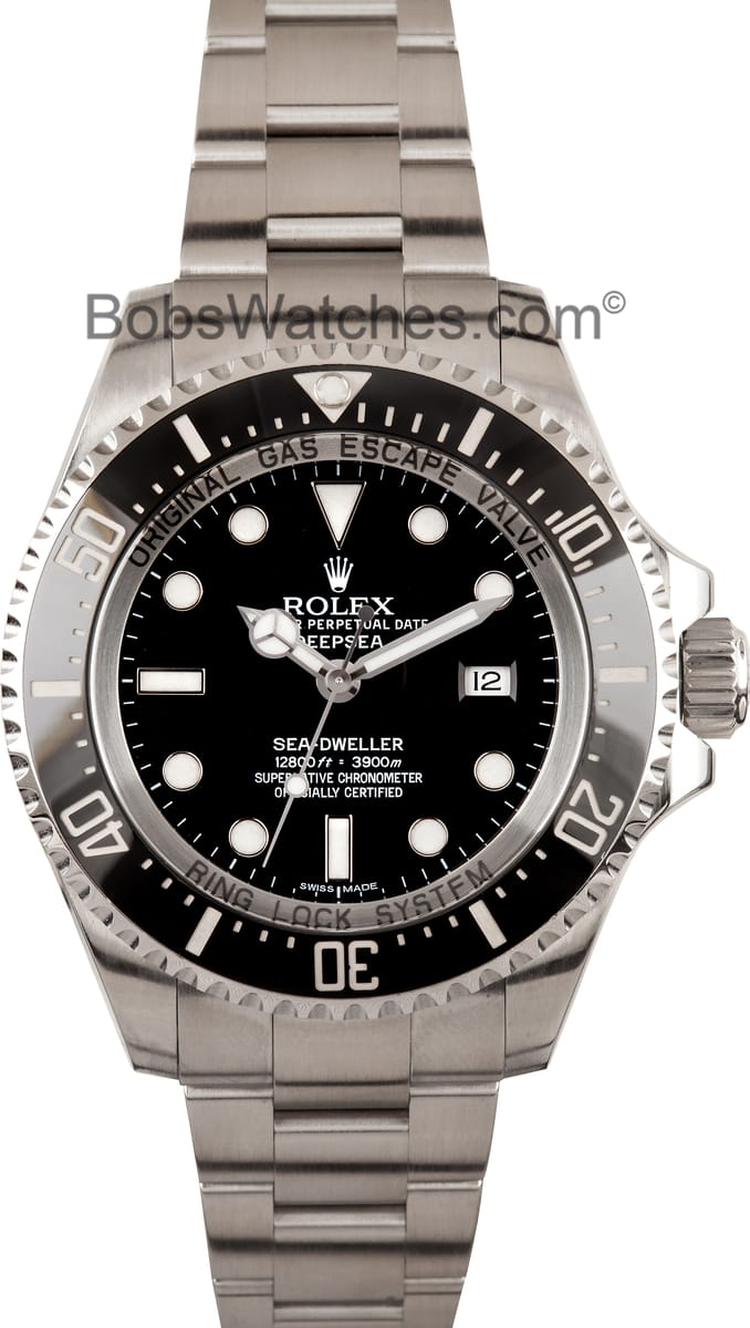 Used Rolex Daytona >> Save on Rolex Sea Dweller Deepsea Reference 116660 at BobsWatches.com
