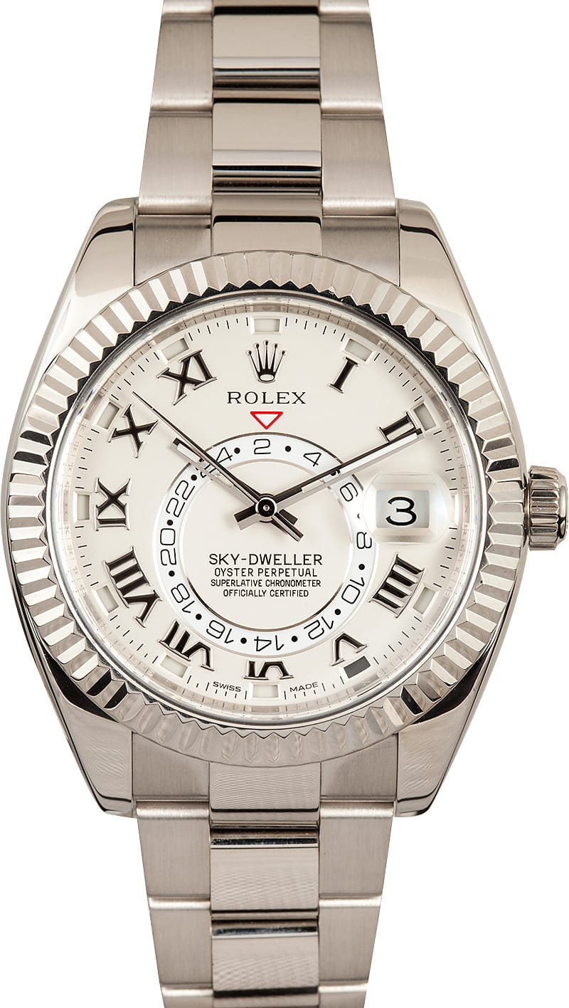 rolex mens skydweller white gold 326939
