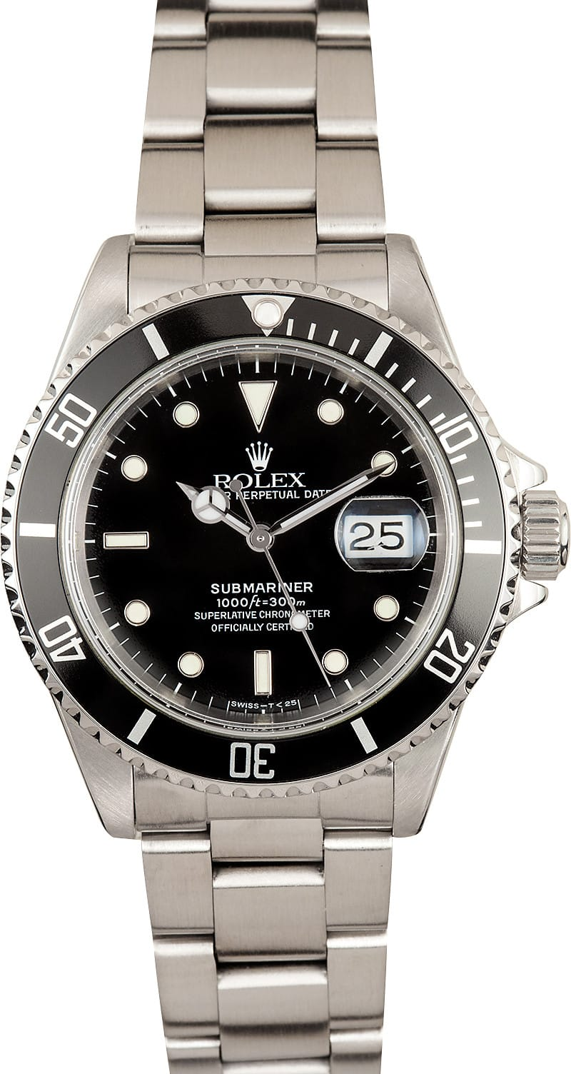 pre owned rolex submariner 16610 black. Black Bedroom Furniture Sets. Home Design Ideas