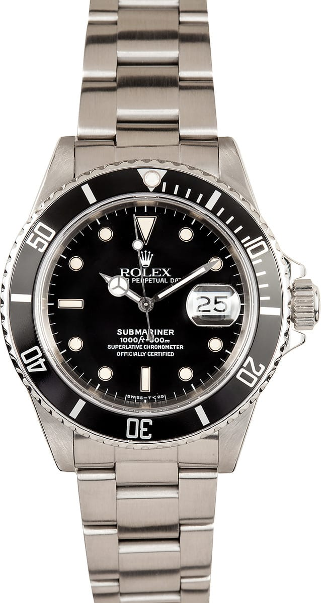 Rolex Submariner Black Dial Steel 16610BKSO