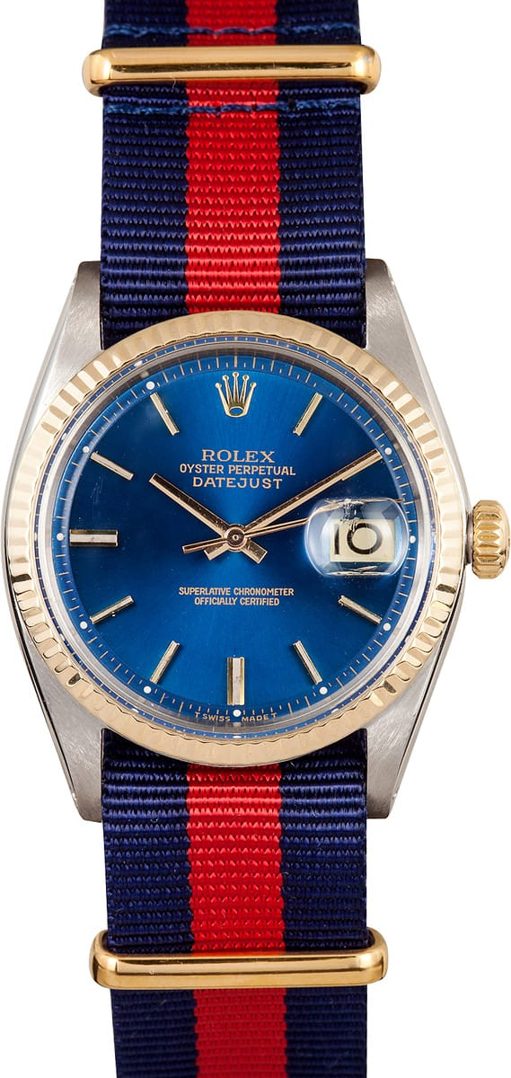 Used Mens Rolex >> Rolex Datejust Steel Gold Fluted Bezel - Save 50% at Bob's Watches