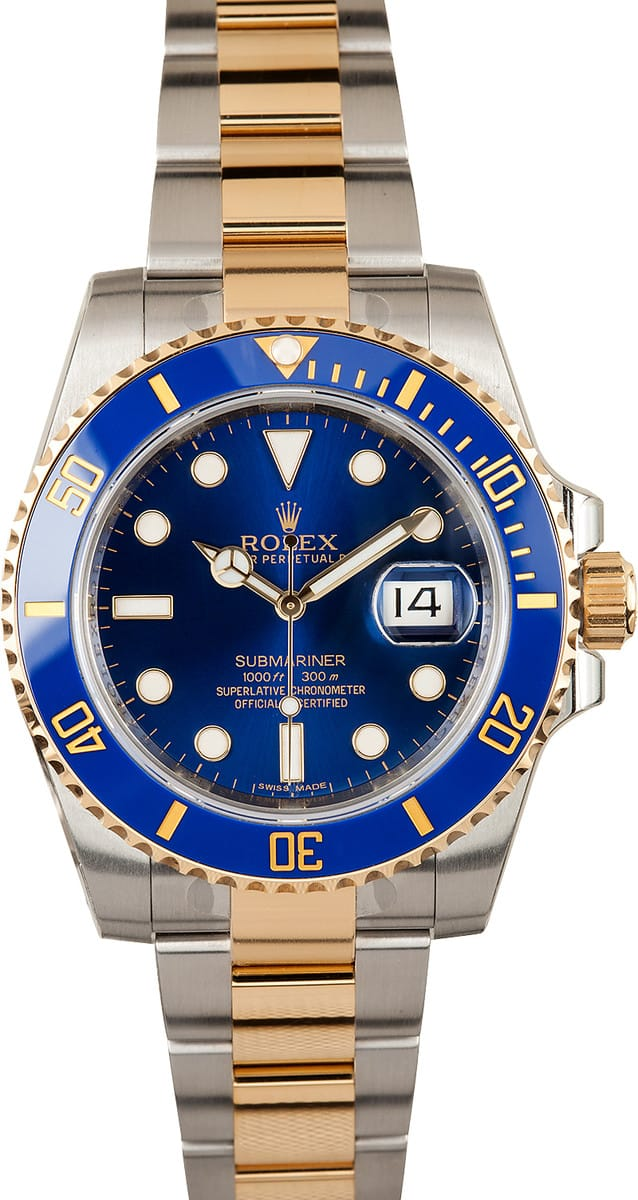 new rolex submariner 116613 two tone bobs watches