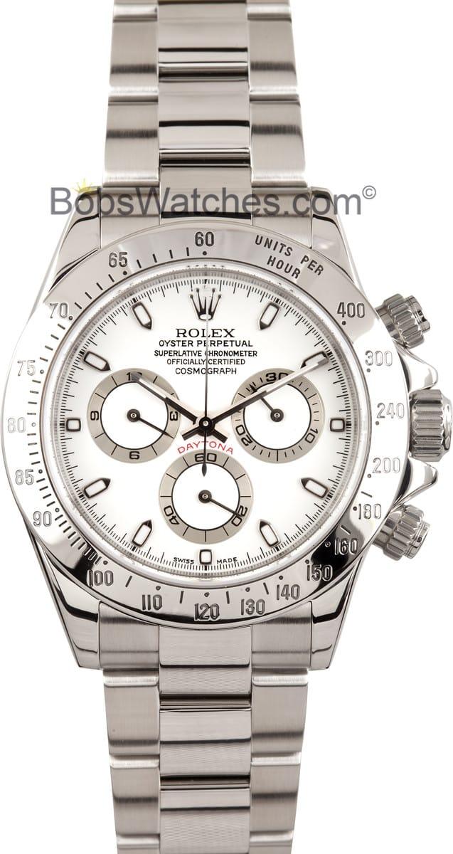 Rolex Daytona Stainless Steel White Bezel Get The Best Price Today