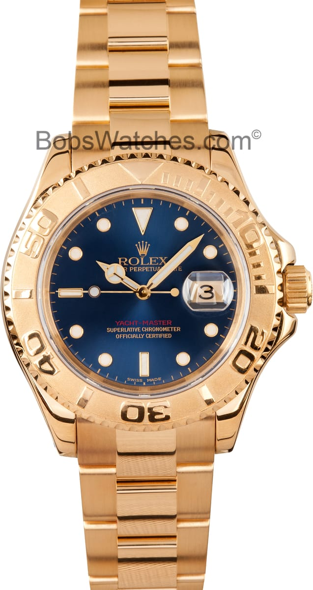 Rolex Yachtmaster 18k Gold 16628 Pre Owned Find Best Deals