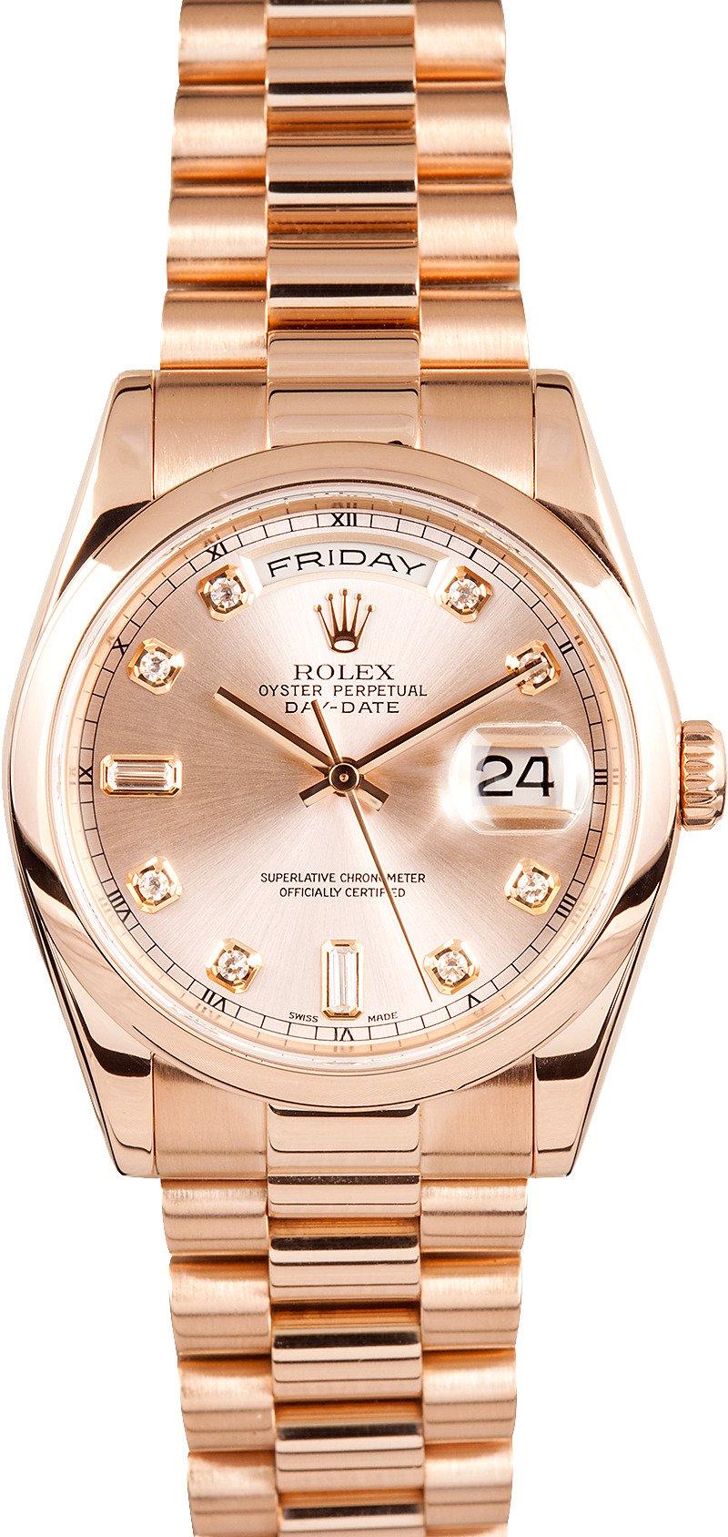 Rolex watches rose gold