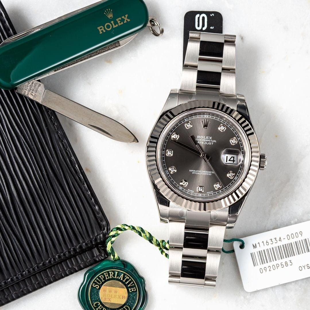 Rolex Datejust Rhodium