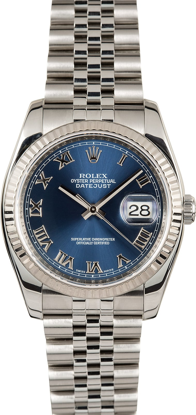 diamond ii fluted watches with date stainless steel bezel just rolex gold