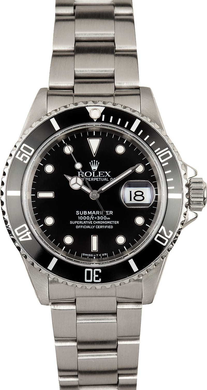 rolex submariner 16610 used bob 39 s watches. Black Bedroom Furniture Sets. Home Design Ideas