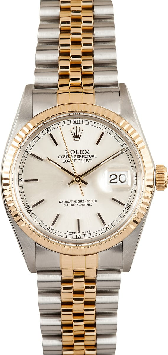 Used Breitling Watches >> Rolex DateJust 16013 - Save $250 - Bob's Watches