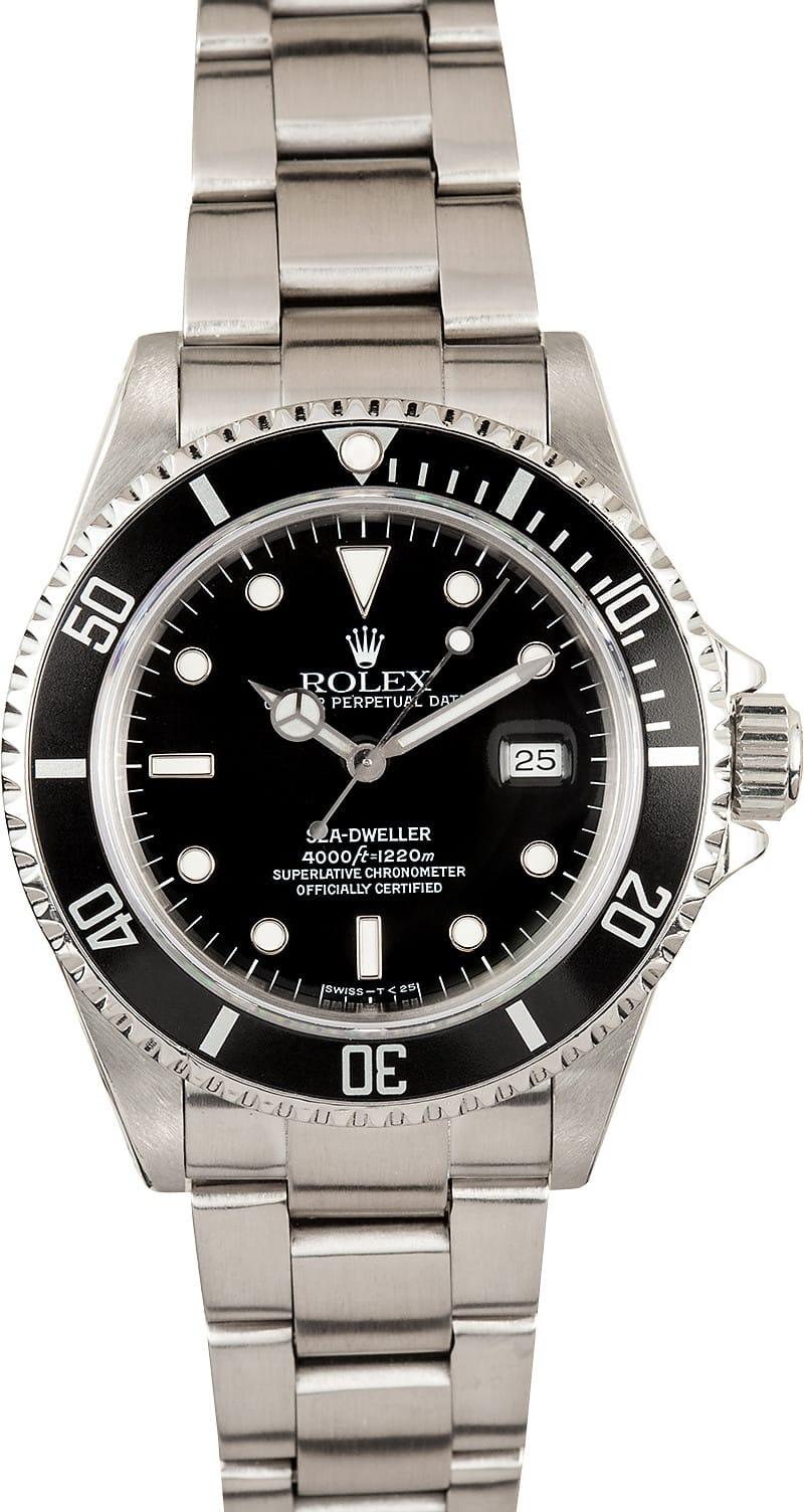 Used Rolex Daytona >> Buy Rolex Sea-Dweller 16600 Steel On Sale - Bob's Watches